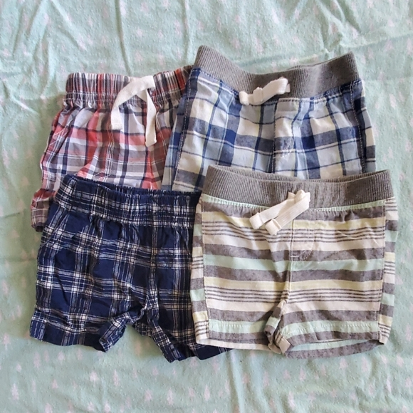 Red//Navy Carters Baby Boys Pull-On Mesh Shorts 3 Months